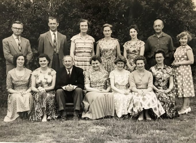 Photo shows 14 teachers from Great Burstead County Primary School in Laindon Road Billericay