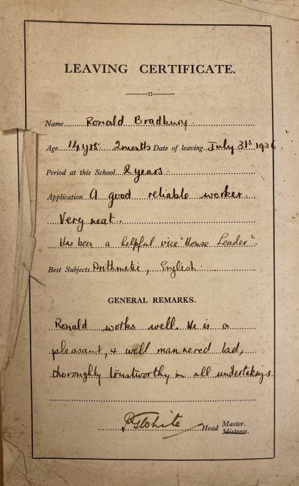 School report from 1932