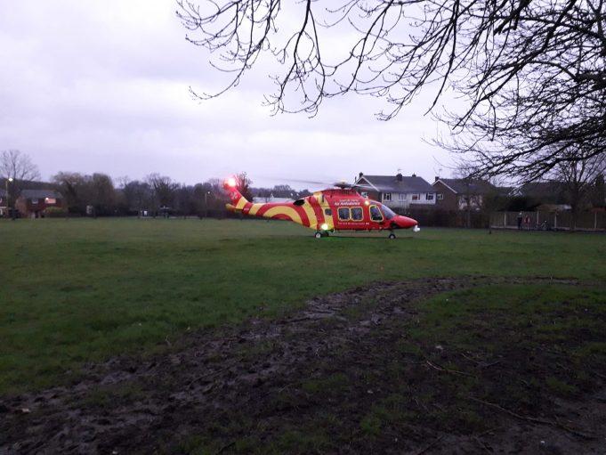 Essex Air Ambulance on South Green   Jennifer Fernandes