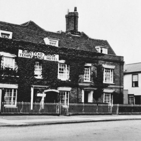 The Temperance Hotel Hotel, just south of the Red Lion next to Lion Lane.