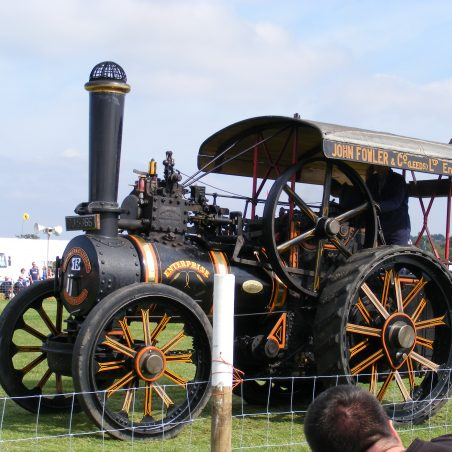 Close up of Traction Engine