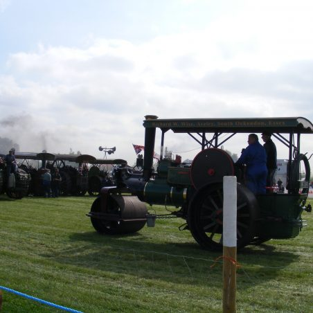 Distant shot of Traction Engine